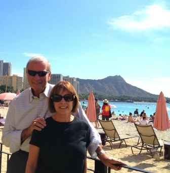 A beautiful stopover in Honolulu's Waikiki Beach, just before flying off to Manila